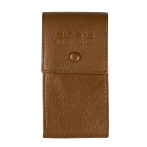 Italian Watch Pouch - Embossed Brown