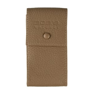 Italian Leather Watch Pouch - Embossed Beige
