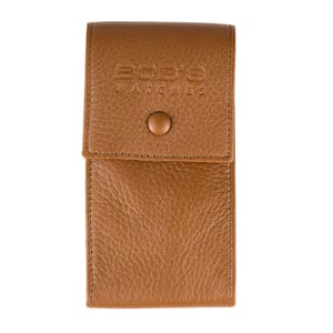 Italian Leather Watch Pouch - Embossed Tan