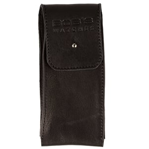 Italian Watch Pouch - Supple Black Leather