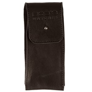 Italian Leather Watch Pouch - Supple Dark Brown Leather