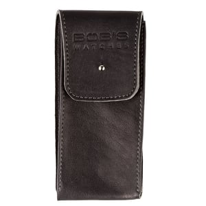 Italian Watch Pouch - Supple Dark Grey Leather