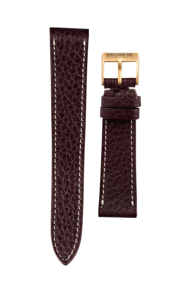 Italian Leather Watch Strap Brown - 19mm
