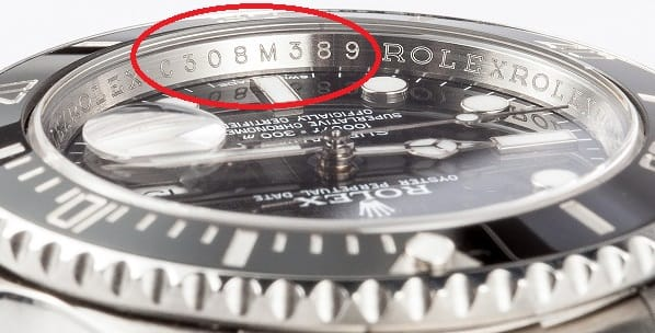 Rolex Serial Numbers on Rehaut