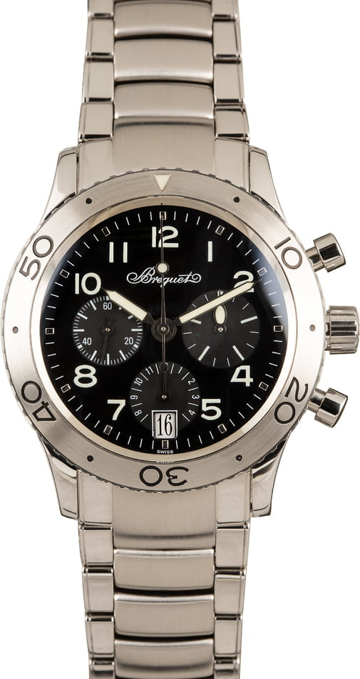 Pre-Owned Breguet Type XX 3820 Black Dial
