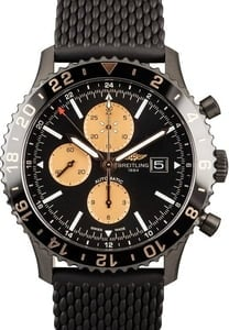 New Breitling Chronliner Chrono Black Steel Index Dial
