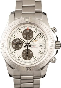 New Breitling Colt Chronograph Stainless Steel Silver Dial