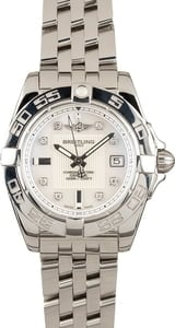 New Breitling Galactic 32 Stainless Steel Diamond Dial