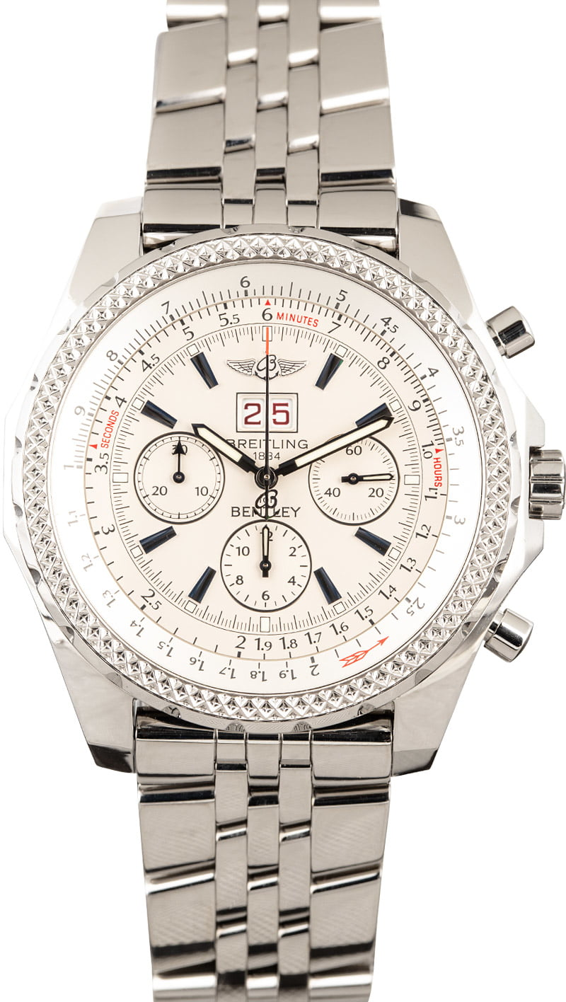 Buy Used Breitling Bentley 6 75 A4436212 G573 Bob S Watches