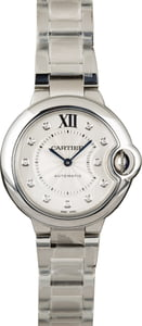 Cartier Ballon Bleu WE308074 Silver Diamond Dial