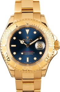 Rolex Yacht-Master 16628 Yellow Gold Blue Dial