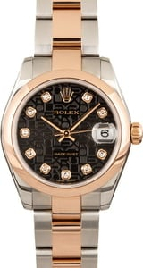 Rolex Mid-Size Datejust 178241 Two Tone Everose