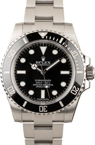 Rolex 114060 No Date Submariner 100% Genuine