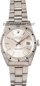 Vintage Rolex Date Stainless Steel With Silver Dial 1501