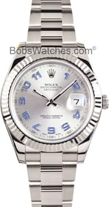 Rolex DateJust II 116334, Satin Gray Dial