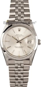 Rolex Date Stainless Steel With Silver Dial 15000
