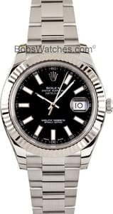 Rolex DateJust II with Black Dial 41mm