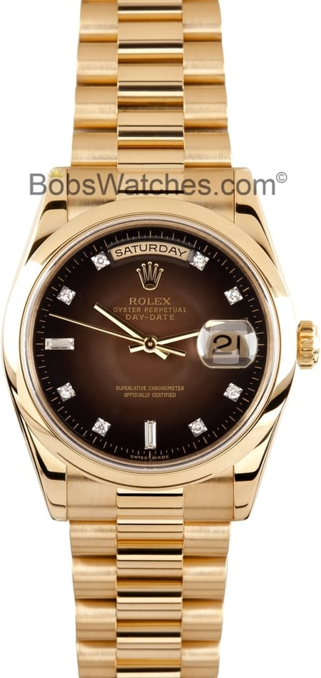 Men's Rolex President Gold Day-Date 118208