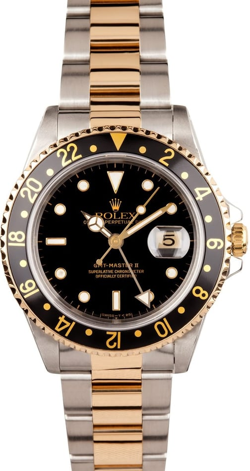 Rolex GMT Master II Stainless & Gold