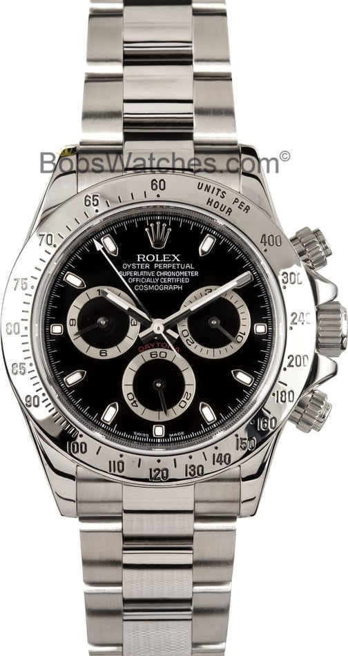 Rolex Daytona Stainless Steel Black