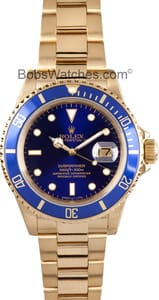 Rolex Submariner All 18k Gold 16808 1