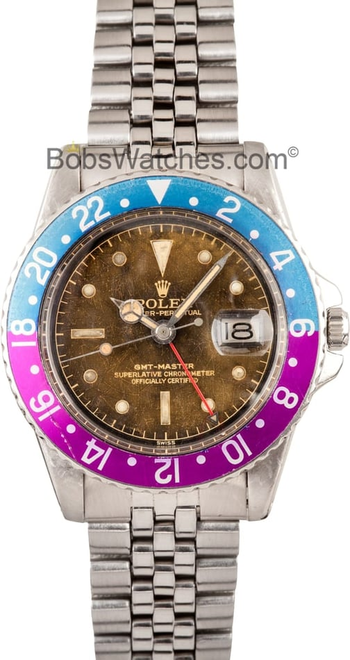 Vintage Rolex GMT-Master II 1675 Tropic Dial