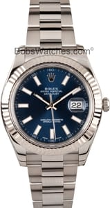 Rolex DateJust II 41MM with Blue Dial 116334