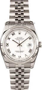 Men's Pre-Owned Rolex Oyster Perpetual DateJust Steel 116234