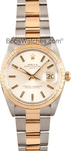 Pre Owned Rolex Date Stainless and Gold 15053