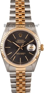 Rolex DateJust Stainless and Gold 16233 Black Dial