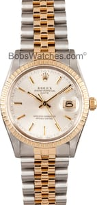 Pre-owned Rolex Date Stainless and gold 15003