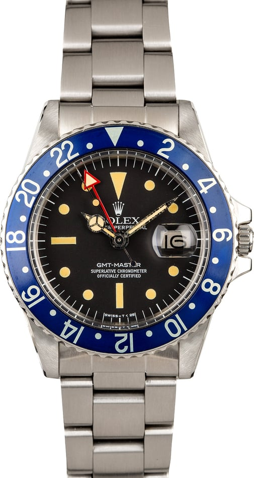 Vintage 1978 Rolex GMT Master 1675 Blueberry