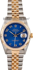 Men's Rolex DateJust 16233 Blue Dial