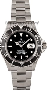 Pre Owned Rolex Submariner 16610