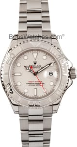 Pre-owned Rolex Men's Yachtmaster Stainless Steel Grey Watch 16622