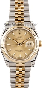 Pre-Owned Men's Rolex Stainless and Gold DateJust 116233