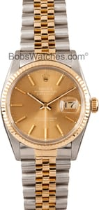Used Men's Rolex Oyster Perpetual DateJust Stainless Steel and Gold 16013
