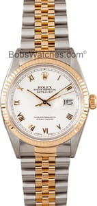 Used Rolex Oyster Perpetual DateJust Stainless Steel and Gold 16013