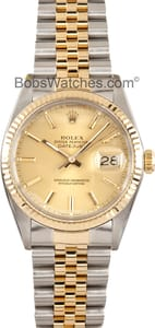 Rolex Datejust 16013 - Stainless and Gold