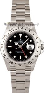 Pre-Owned Men's Rolex Explorer II Men's Stainless Steel Watch 16570-BKSO