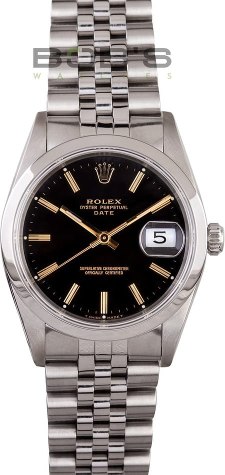 Pre-Owned Rolex Men's Stainless Steel Perpetual Date 15200
