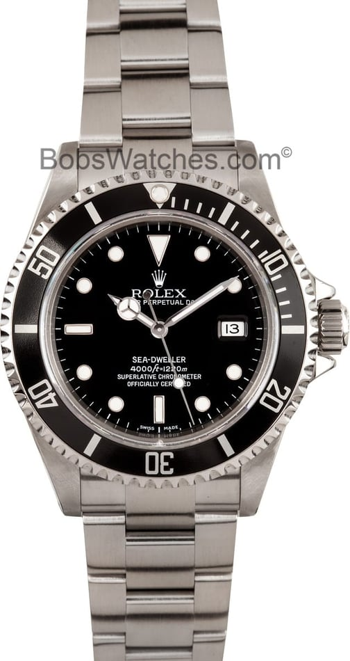 Used Mens Rolex Sea-Dweller Model 16600