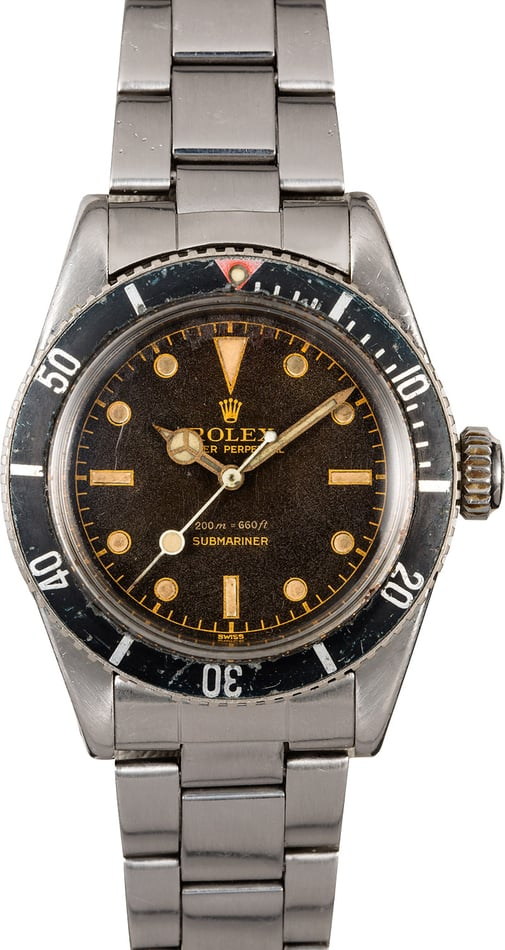 Vintage Tropical Rolex Submariner Ref. 6538