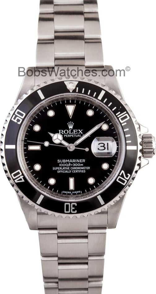 Rolex Submariner 16610 Pre-Owned Watches at Bob's