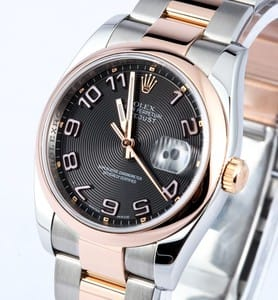 Pre Owned Men's Rolex Stainless and Rose Gold DateJust 116231