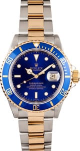 Used Rolex Submariner Steel & Gold Black Face 16613