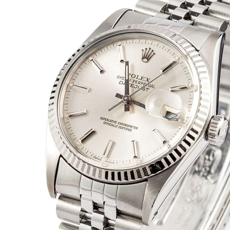 Men's Rolex Datejust Classic Stainless Steel Watch