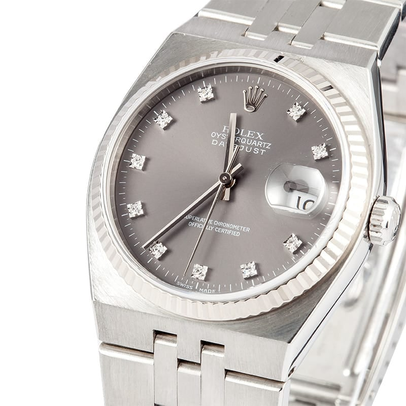 Pre-Owned Men's Rolex Datejust Oysterquartz 17014