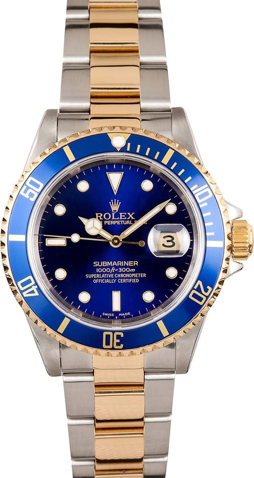Used Rolex Submariner 16613 - Steel and Gold