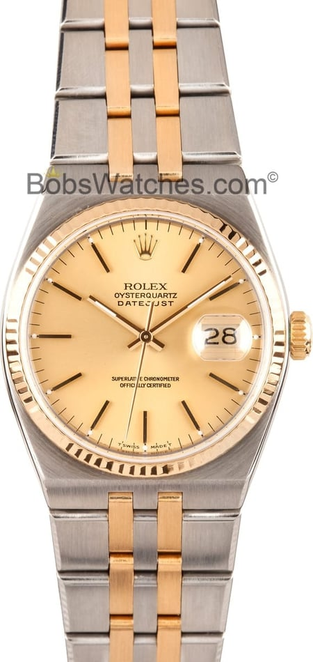 Rolex Oyster Quartz 17013 Steel and 18K